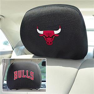 Fan Mats NBA Chicago Bulls Head Rest Covers