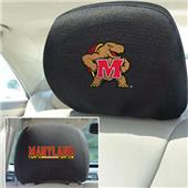 Fan Mats University of Maryland Head Rest Covers