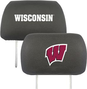 Fan Mats University of Wisconsin Head Rest Covers