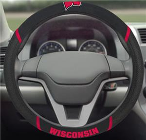 Fan Mats Univ. of Wisconsin Steering Wheel Cover