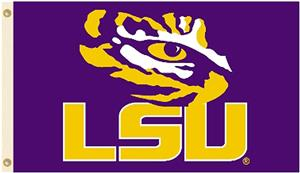 COLLEGIATE LSU Tigers 2-Sided 3' x 5' Flags