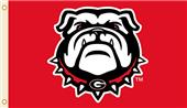 COLLEGIATE Georgia Bulldog Head 3' x 5' Flags