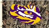 COLLEGIATE LSU Tigers Realtree Camo 3' x 5' Flags