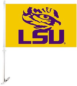 "COLLEGIATE LSU Tigers Eye 11"" x 18"" Car Flags"