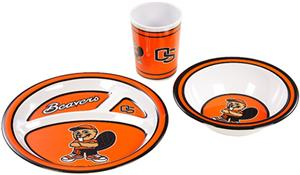 COLLEGIATE Oregon State Children's Dish Set