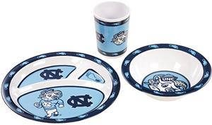 COLLEGIATE North Carolina Children's Dish Set