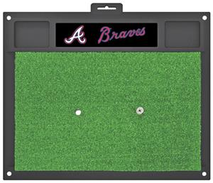 Fan Mats MLB Atlanta Braves Golf Hitting Mat