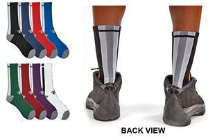 Shirts & Skins Triple Threat Basketball Crew Socks
