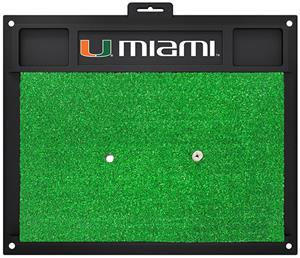 Fan Mats University of Miami Golf Hitting Mat