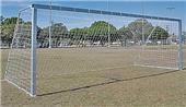 "Semi-Permanent 4"" Square Aluminum Soccer Goals"