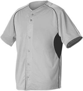 Alleson Warp Knit Full Button Mesh Baseball Jersey
