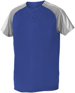 Alleson 2 Button Henley Baseball Jerseys