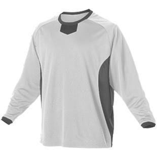 Alleson L/S Pullover Baseball Practice Jersey