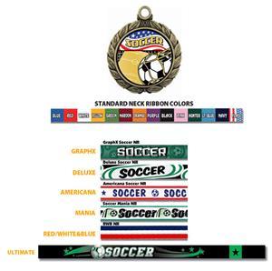 Hasty Award Soccer Medal W/Americana Insert M-8501