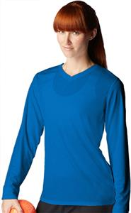 New Balance NDurance Ladies Long Sleeve V-Neck Tee