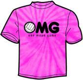 Tandem Sport OMG Volleyball Tie Dye T-Shirt