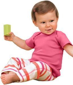 Rabbit Skins Infant Baby Rib Lap Shoulder T-Shirt
