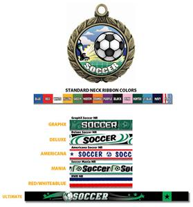 Soccer Medal W/HD Soccer Insert M-8501