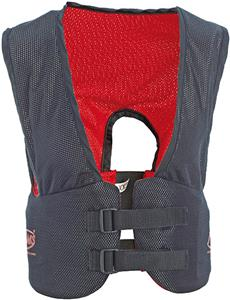 Adams Football Blocking Rib Vest - Black/Red