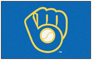 "Fan Mats Milwaukee Brewers Starter Mat 19""x30"""