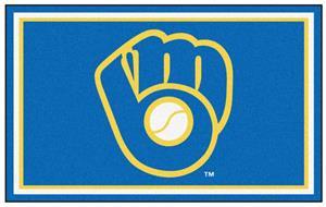 Fan Mats MLB Milwaukee Brewers 4'x6' Rug