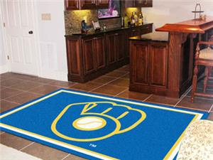 Fan Mats MLB Milwaukee Brewers 5'x8' Rug