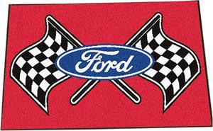 """Fan Mats Ford Flags Starter Mat Rug 19""""x30"""""""