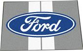 "Ford Oval w/Stripes Starter Mat Rug 19""x30"""
