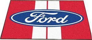 """Fan Mats Ford Oval w/Stripes All-Star Mat 34""""x45"""""""