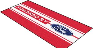 "Fan Mats Ford Oval w/Stripes Runner Rug 30""x72"""