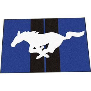"""Fan Mat Ford Mustang Horse Starter Mat Rug 19""""x30"""""""