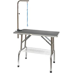 Go Pet Club Pet Grooming Table With Shelf BLACK