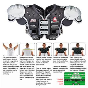 Rawlings Spartan SPTNQB Football Shoulder Pads