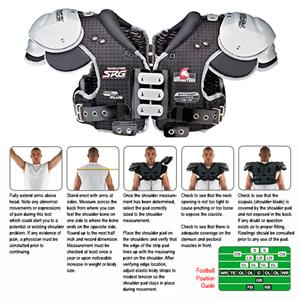 Rawlings Spartan SPTNMP Football Shoulder Pads
