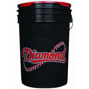 Diamond Black Six-Gallon Baseball/Softball Buckets