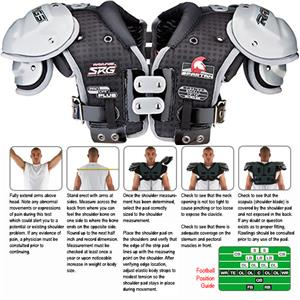 Rawlings Spartan SPTNYF Football Shoulder Pads