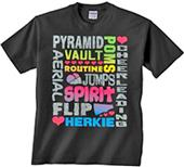 Image Sport Cheer Glitter Words T-Shirt