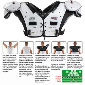 Rawlings Titan Pro TTNQB Football Shoulder Pads