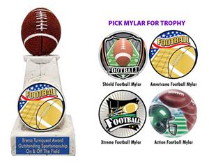 "Hasty Awards 6"" Football Stone Tower Trophies"