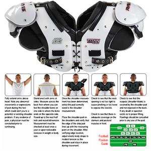 Rawlings Titan Pro TTN86 Football Shoulder Pads