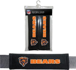 BSI NFL Chicago Bears 2 Pack Seat Belt Pads