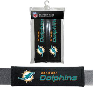 BSI NFL Miami Dolphins 2 Pack Seat Belt Pads