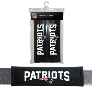 BSI NFL New England Patriots 2 Pack Seat Belt Pads