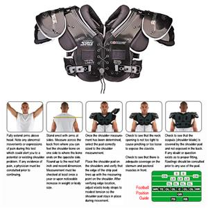 Rawlings Combat CPQBL Football Shoulder Pads