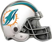 BSI NFL Miami Dolphins Metal Helmet Hitch Cover