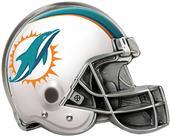 BSI NFL Miami Dolphins Metal Helmet Hitch Cover