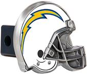 BSI NFL  L.A. Chargers Metal Helmet Hitch Cover