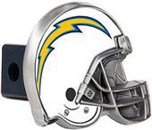 BSI NFL  L.A. Chargers Metal Helmet Hitch Cover