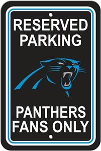 BSI NFL Carolina Panthers Reserved Parking Sign