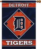 "MLB Detroit Tigers 28"" x 40"" House Banner"